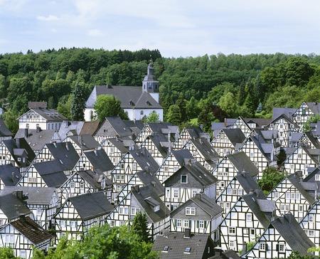 houses row: Row of houses