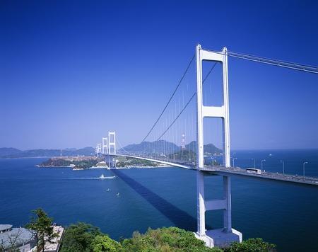 Kurushima Strait Bridge 版權商用圖片