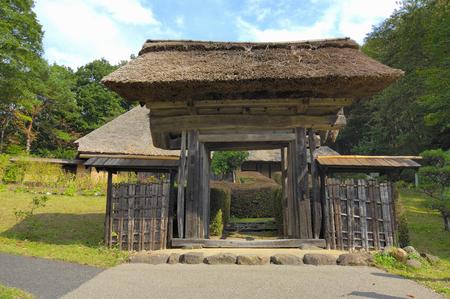 folk village: Michinoku Folk Village Stock Photo