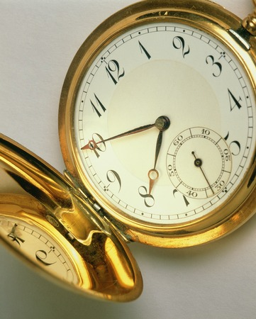 retrospective: Antique pocket watch Stock Photo