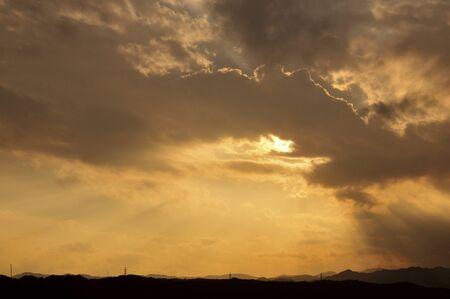 夕焼け雲 写真素材