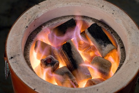 charcoal: Charcoal fire of charcoal stove