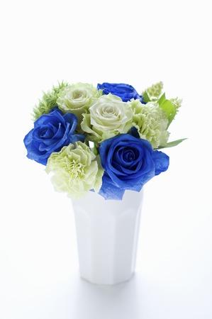 naughty: Naughty blue rose vase