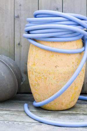 manguera: Manguera azul