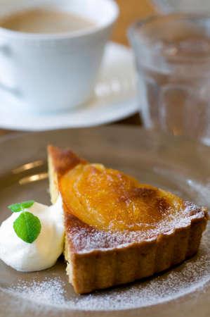 orange tart: Orange tart Stock Photo