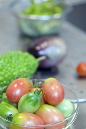 gourds: Cherry tomatoes and gourds