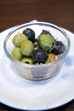 marinated: Marinated olives Stock Photo