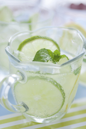 carbonic: Lemon lime Stock Photo