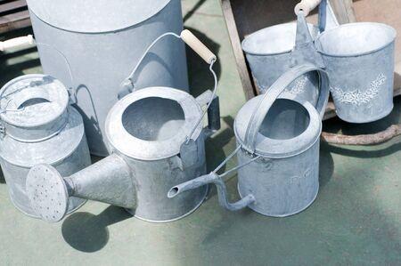 tin: Tin watering Stock Photo
