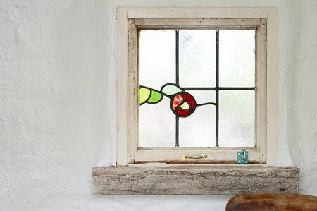ステンド グラスの窓 写真素材