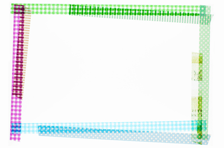 masking tape: Masking tape frame Stock Photo