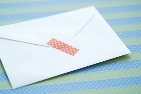 masking tape: Envelope and masking tape