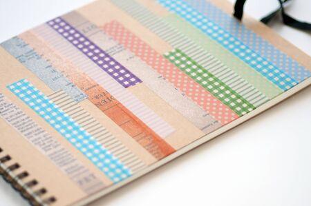 masking: Sketchbook and masking tape