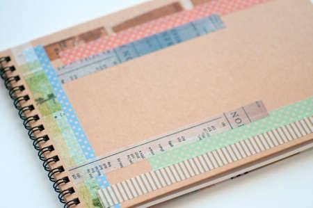 sketchbook: Sketchbook and masking tape