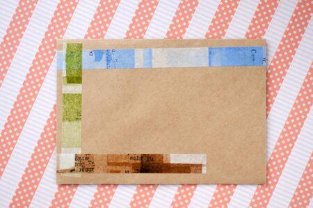 masking tape: Envelope and masking tape