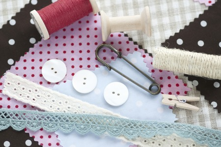 remnant: Sewing goods Stock Photo