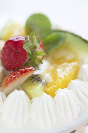 shortcake: Fruit shortcake Stock Photo