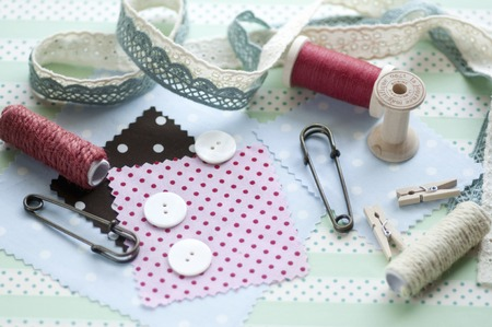 goods: Sewing goods Stock Photo