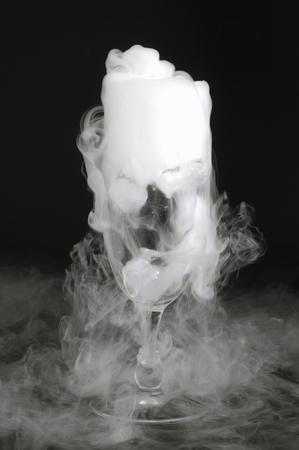coolness: Dry ice Stock Photo