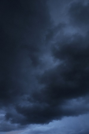 thundercloud: Dark clouds Stock Photo