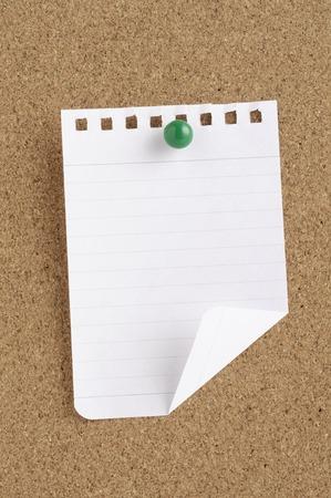 tack board: Note Stock Photo
