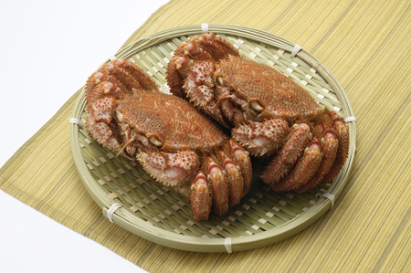 fishery products: Hairy crab Stock Photo