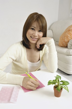 Lady Writing A Letter Stock Picture And Royalty Free Image