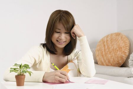 letter writing: Lady writing a letter