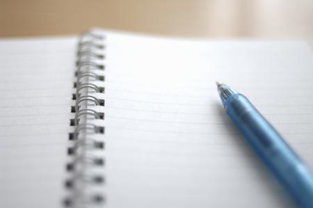 ballpoint: Notebook and ballpoint pen