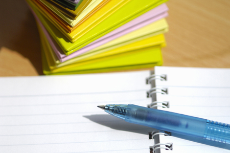 ballpoint pen: Notebook and ballpoint pen