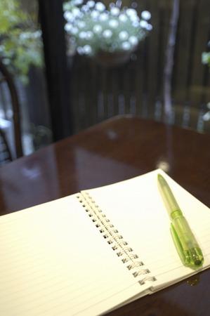 ballpoint pen: Ballpoint pen and notebook