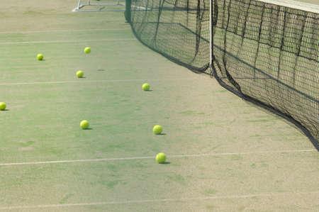 hardball: Tennis Court Stock Photo