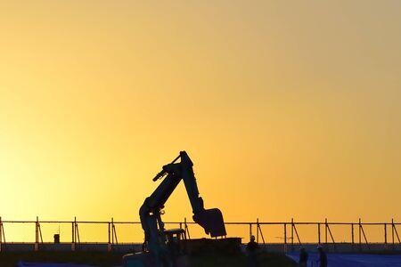 civil: Civil engineering machinery Stock Photo
