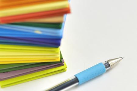 ballpoint pen: Ballpoint pen and mini file Stock Photo