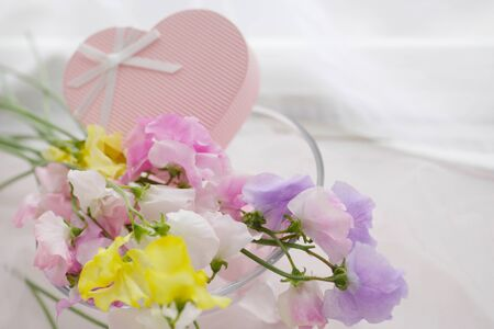 pink heart: Hatsukaichi and the pink heart Stock Photo