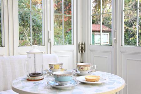 Tea-time van het Conservatorium Stockfoto