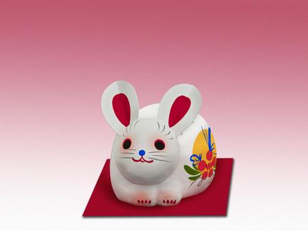 papiermache: rabbit of papier-mache