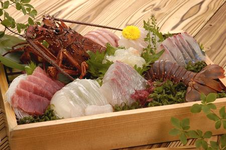 rawness: Luxury sashimi box prime Stock Photo