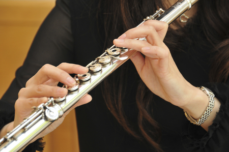 woodwind: Flutist Stock Photo
