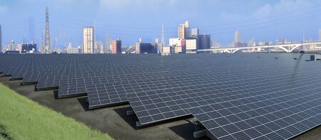 Solar power generation 写真素材