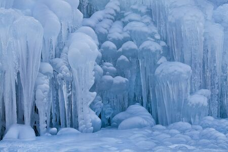 icefall: Giant Icicle sculpture