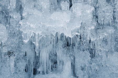 water frozen: Countless icicles