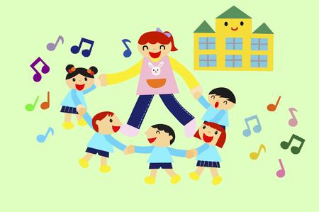 enjoyable: Fun kindergarten illustrations