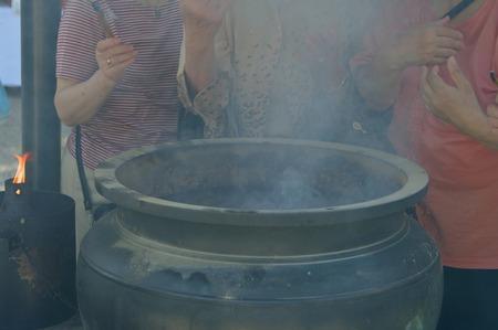 those: Those who raise the incense Stock Photo