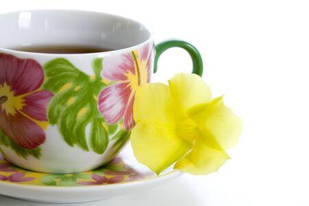 east espresso: Depuradenia of flowers and coffee cup