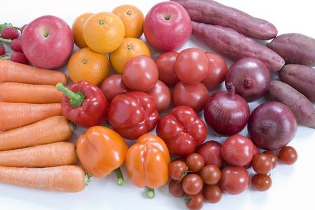 赤い野菜・果物 写真素材