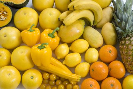 黄色の野菜や果物
