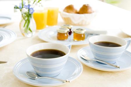아침 식사 테이블 스톡 콘텐츠