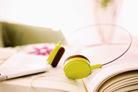rythm: Books and headphones