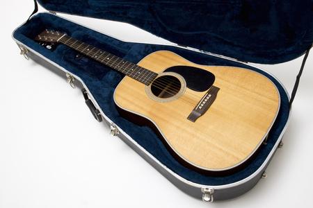 guitar case: Guitar and guitar case